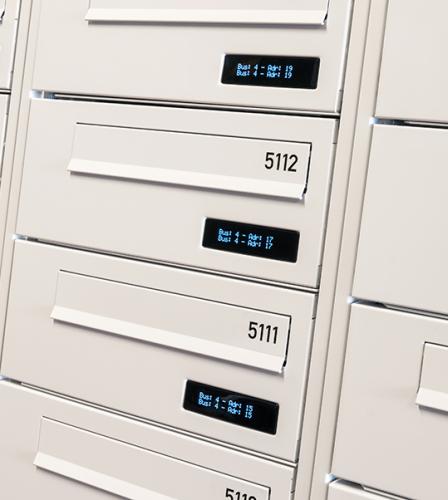 Renz e-Line elektronisk postkasseanlæg - Bomi-parken