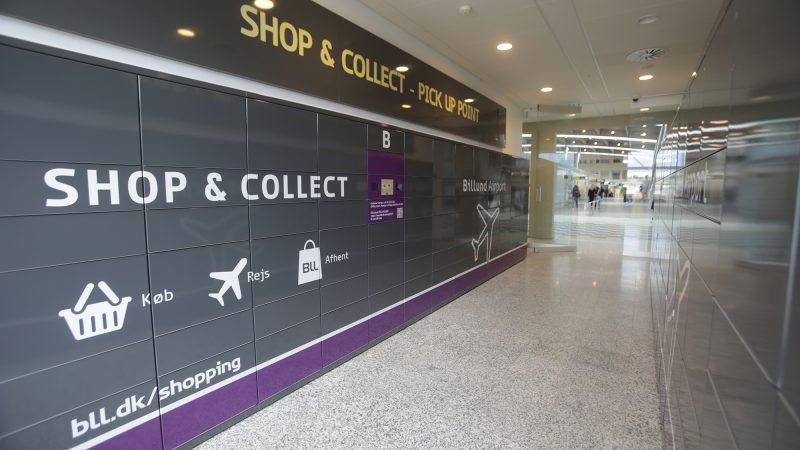 myRENZbox Click&collect pakkeboks i Billund Lufthavn
