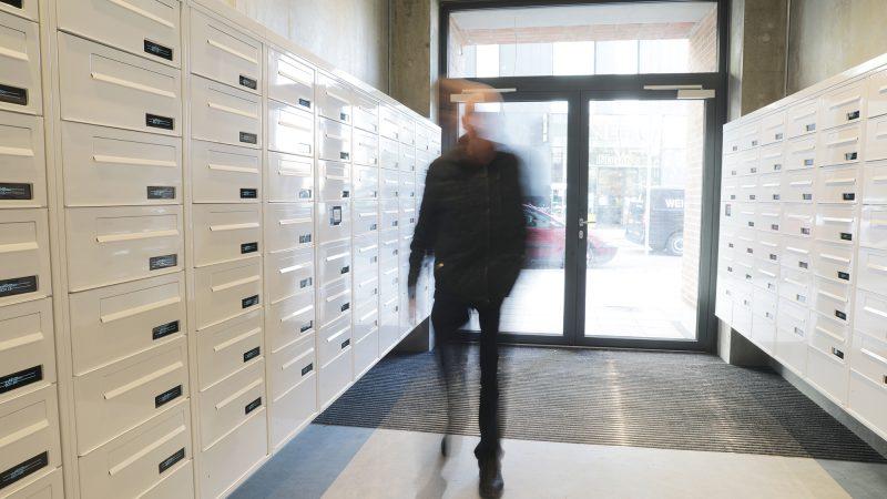 myRENZbox e-Line elektornisk postkasseanlæg - ungdomsboliger Artillerihuset, Amager